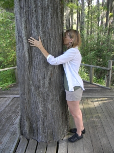First time to hug a tree. I really felt happy about it, and I think the tree did too.